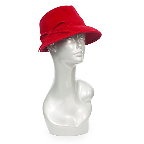 Eric Javits Luxury Fashion Designer Women's Headwear Hat - Bow Cap Fedora - Red by Eric Javits