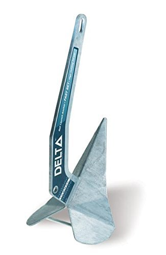 Lewmar Galvanised Delta Anchor, 10 kg/22 lb. (Renewed) by Lewmar