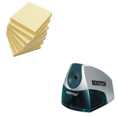 (KITBOSEPS4BLUEUNV35668 - Value Kit - Stanley Bostitch Compact Desktop Electric Pencil Sharpener (BOSEPS4BLUE) and Universal Standard Self-Stick Notes (UNV35668))