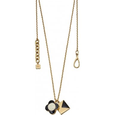 Orla Kiely Black Flower and K Cube Pendant of Length 70-75cm gz25XFU2