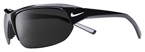 (Nike Eyewear Men's Nike Skylon Ace Rectangular Sunglasses, Black, 69 mm)