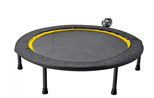 Exercise Trampoline For Adults Mini Workout Fitness Rebounder With Tracking Monitor by Golds Gym