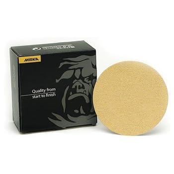 "Mirka Bulldog Gold Abrasive Discs 5"" Hook And Loop No Hole 220 Grit (50 Count)"