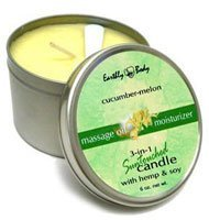 Earthly Body Round Candle, Cucumber Melon, 6.8-Ounce (Toys Candle)