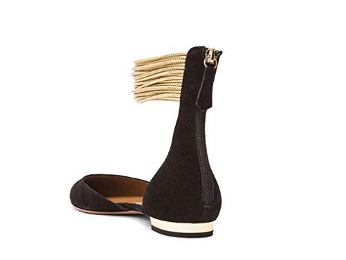 Donna Piatte Scarpe Con Black Da Scarpe Punta JC Piatte A Decorative 35 xwIqxd7