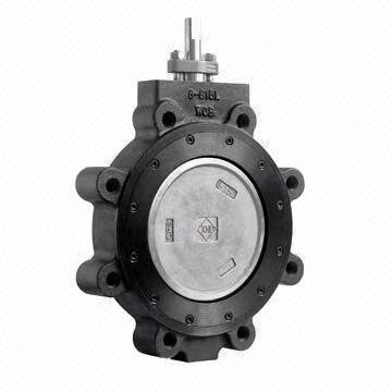 "20"" Max-Seal Butterfly Valve High Performance CL 150 Lug Carbon Steel Body 316SS Disc RPTFE Seat Gear by Max-Seal"