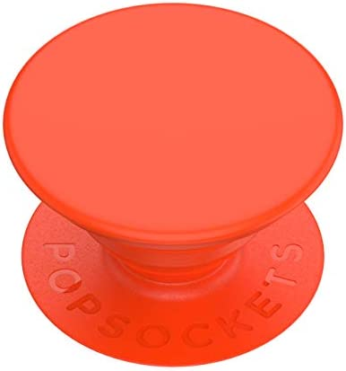PopSockets: PopGrip with Swappable Top for Phones and Tablets - Neon Orange