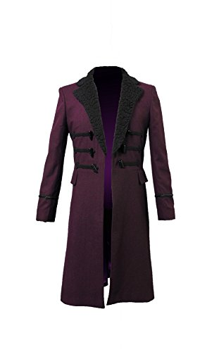 The 11th Doctor Halloween Costume (Cosdaddy Doctor Eleventh 11th Dr. Purple Wool Coat Cosplay Costume (2XL, Coat))