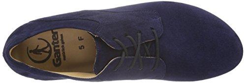 Ganter Fiona, Weite F, Zapatos de Cordones Derby para Mujer Azul - Blau (blue 3200)