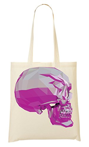 Skull Two tone Shaped Graphic Pastel Colors Sac Fourre-tout Sac à provisions