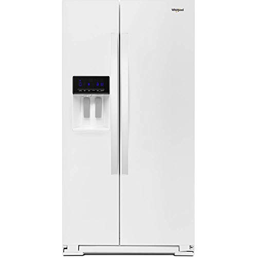 Whirlpool WRS571CIHW 21 Cu. Ft. White Counter Depth Side-by-Side Refrigerator ()