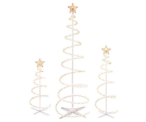 WWL Set of 3 Lighted Christmas Trees - 3 Ft 4 Ft and 6 Ft - Clear Lights UL588 ()