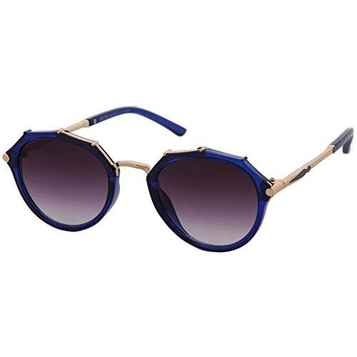 Mignon Lens Blue Métallique De Reflété Style Eye Ossature Eyewear À Cat Ogobvck Flat Lunettes Soleil ZqaZ8z