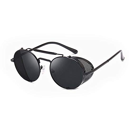 Crowley Sunglasses Glasses Demon Cosplay Costume Accessories Metal Frame Black Lens Sun Glasses For Men Women