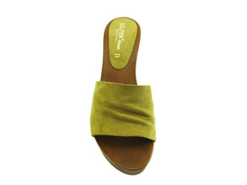 Silfer senape Shoes Giallo Pour Femme Mules q1wO6F