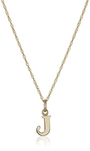 Gold Filled Letter Charm Pendant Necklace