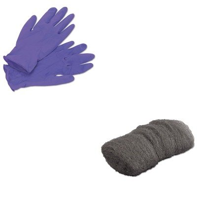 KITGMA117001KIM55082 - Value Kit - Global Material Technologies Industrial-Quality Steel Wool Hand Pad (GMA117001) and KIMBERLY CLARK PURPLE NITRILE Exam Gloves (KIM55082)