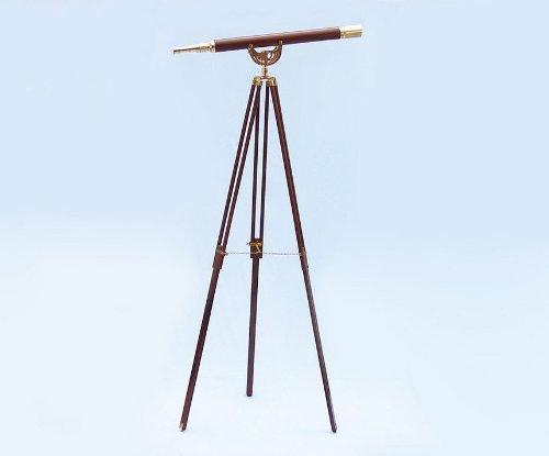 Floor Standing Brass/Wood Anchormaster Telescope 65'' - Decorative Telescope