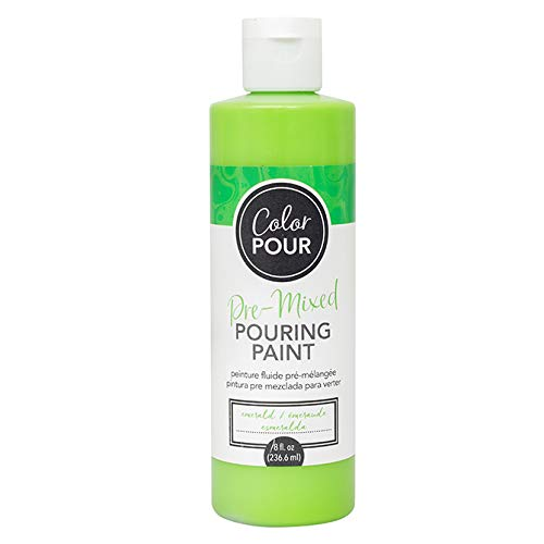 American Crafts Color Pour Art Pre-Mixed Pouring Paint - 8oz Bottle, Emerald - Painting and Scrapbooking Supplies