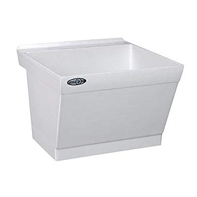 Mustee 17W Utilatub Laundry Tub Wall Mount, 23.5-Inch x 23-Inch, White