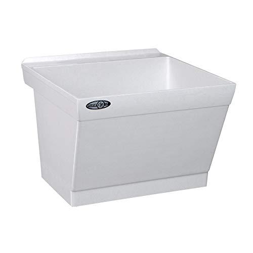 (Mustee 17W Utilatub Laundry Tub Wall Mount, 23.5-Inch x 23-Inch, White)