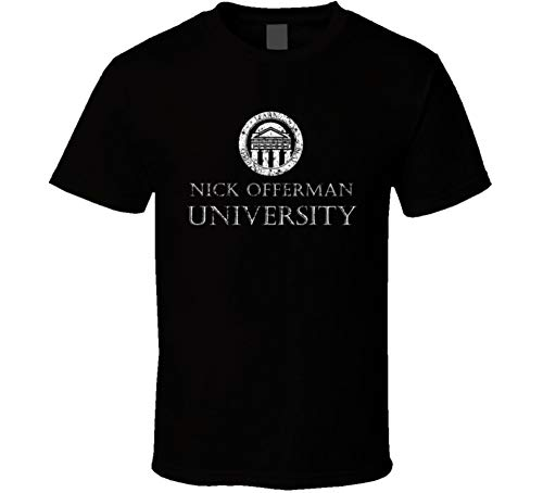 Nick offerman University Comedian Comedy Worn Look Cool Fan T Shirt L Black