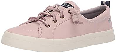 Sperry Womens Crest Vibe Washable Leather Sneaker, Rose Dust, 5.5