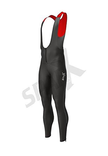 Sparx Men's Long Warm Soft Shell Cycling Thermal Bib Tights Non Padded (Medium)
