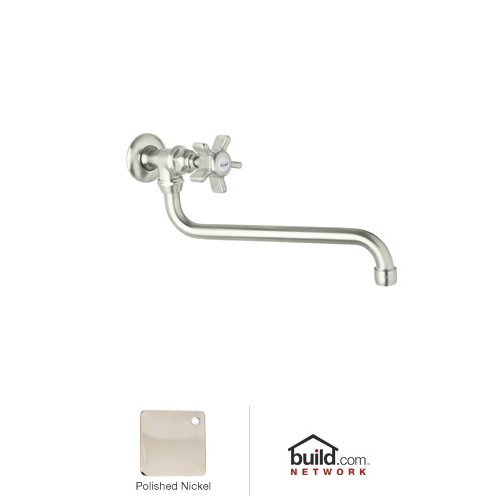 Rohl A1445XPN-2 Country Kitchen Wall Mounted Pot Filler Faucet with Five Spoke Met, Polished ()