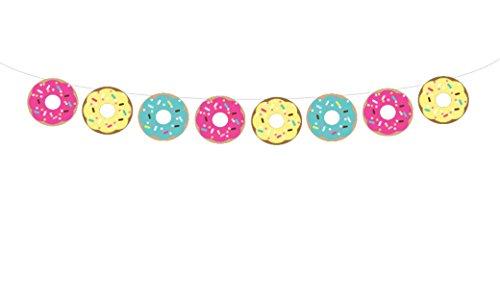 Donut Garland, Donut Banner, Donut Decorations, Donut Birthday