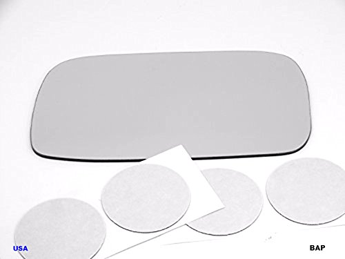 Fits 99-02 Inf G20, Left Driver Replacement Mirror Glass Lens with Adhesive, USA