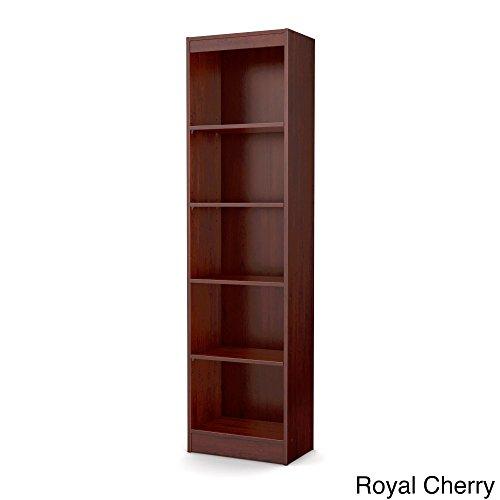 Tall Skinny Bookshelf Royal Cherry 5-shelf Narrow Bookcase