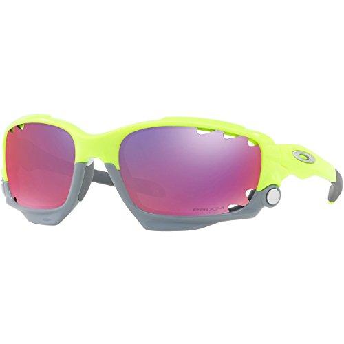 Mens Racing Jacket - Oakley Men's Racing Jacket Non-Polarized Iridium Wrap Sunglasses, Retina Burn, 62 mm