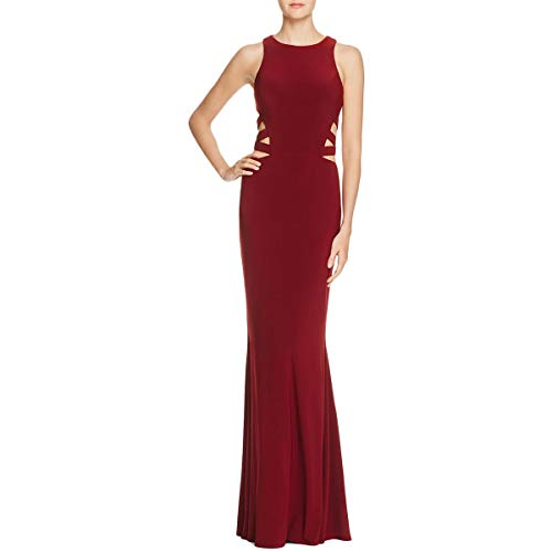Faviana Womens Couture Sleeveless Full-Length Evening Dress Red 6