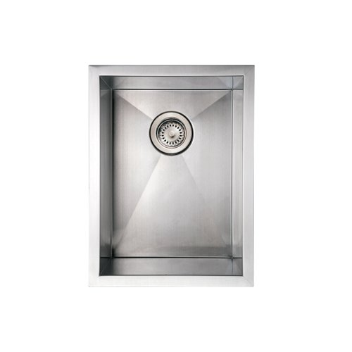 Whitehaus WHNCM1520-BSS Noah'S Collection 15-Inch Commercial Single Bowl Undermount Sink, Brushed Stainless Steel