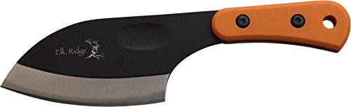 ELK RIDGE ER-200-04S Fixed Blade Knife, Two-Tone Stainless Steel Blade, Brown Handle, 5.57-Inch Overall Length For Sale