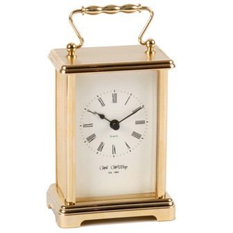 Widdop and Bingham Gold finish Carriage Clock by Widdop