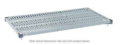 """Metro MQ1830G MetroMax Q Epoxy Coated Polymer Standard Open Grid Shelf with Removable Mat, 800 lbs Capacity, 30"""" Length x 18"""" Width x 1"""" Height (Pack of 4)"""