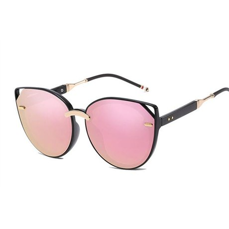 Pink Uv400 de nbsp;gran marco marrón estilo nbsp;mujeres GGSSYY nbsp; de tamaño verano moda de sol espejo gafas nbsp; tamaño moda sol mujer gran nbsp;gafas IW1q4wg