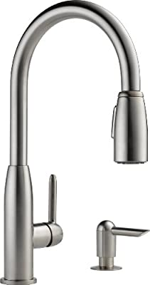 Peerless P188103lf Sssd Apex Single Handle Kitchen Pull Down With