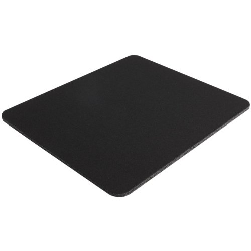 Pad Computer Mouse Black (Belkin Standard 8-Inch by 9-Inch Computer Mouse Pad with Neoprene Backing and Jersey Surface (Black) (F8E089-BLK))