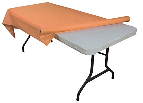 Peach plastic table roll