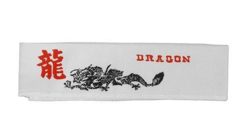ホワイトヘッドバンドwith Dragon   B002FONUAQ