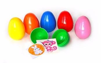 1000 ~ Sticker and Tattoo Filled Easter Eggs - (1 Item) Sticker or Tattoo