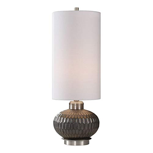 Bresca Textured Aged Black Honeycomb Buffet Table Lamp ()