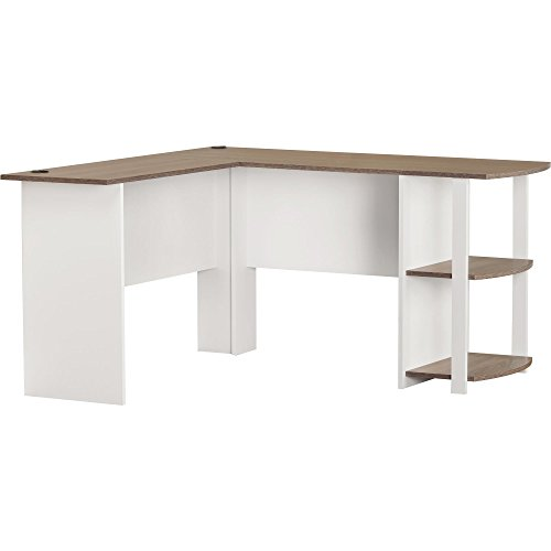 Manufactured Wood Salina L-Shape Computer Desk with Bookshelves Sonoma Oak Top Finish 28.31'' H x 53.62'' W x 51.31'' D by Andover Mills