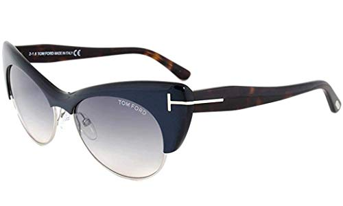 Tom Ford Lola Sunglasses FT0387 89W, Navy Blue Frame, Blue Gradient Lens, ()