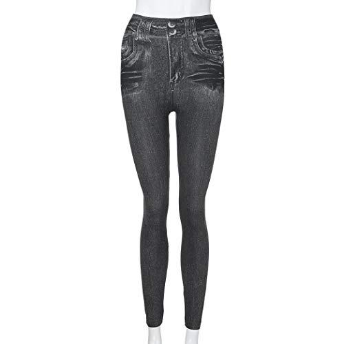 Pantaloni Plus Fit Pantaloni Fitness pantalone leggings Trada sottili Donna donna Leggins Leggings tasca jeans Blu leggings Slim Pantaloni elasticizzato Size 6wqXFY