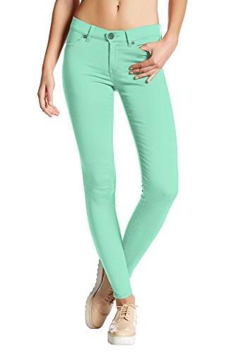 (Womens Super Stretch Comfy Skinny Pants P44876SKX Mint)