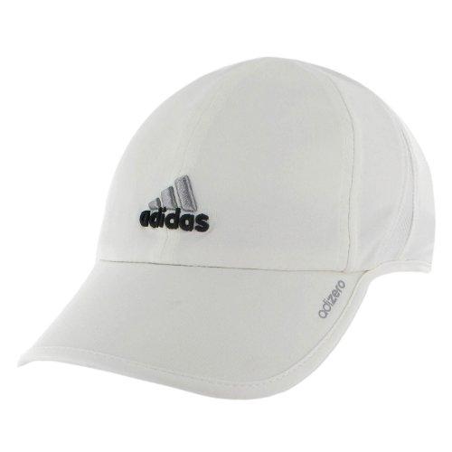 adidas Women's Adizero Cap, White/Black, One Size Fits All
